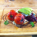 red-cabbage-balsamic-avocado-roasted-tomatoes-with-ricotta-cheese