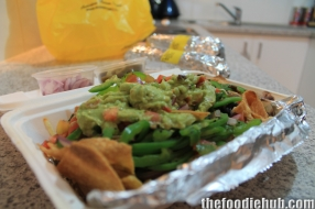 G.Y.G's famous nachos with veggie filling