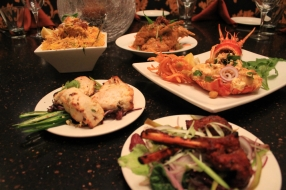 Clockwise Chicken Biryani, Aachari Rabbit, Tandoori Lobster, Tandoori Lamb Chops, Murgh Afgani Tikka Chicken 2