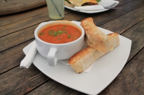 Roasted capsicum and chorizo soup 2