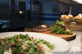 Wagyu bresaola beet salad steak tagliata polent chips