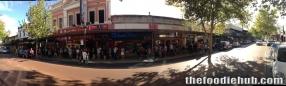The queue for free burritos at 430pm