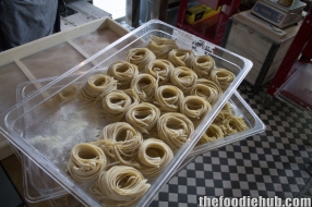Fresh hand made spaghetti