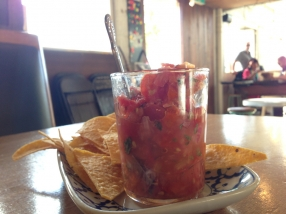 Salsa and corn chips