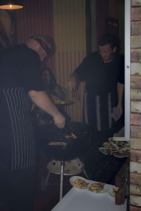 Chef Ryan & Dean serving from the Webber