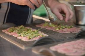 Beef Carpaccio Prep
