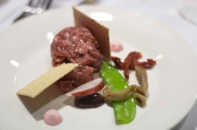 Beef Tartare with Red Radish Mayonnaise 2