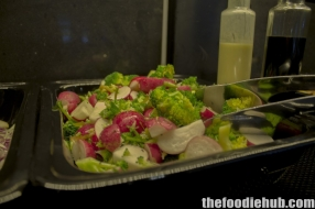 Radish and broccoli salad