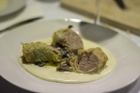 Meat and Cabbage Caponet Roll, Toma Cheese Fondue and Mushroom 3