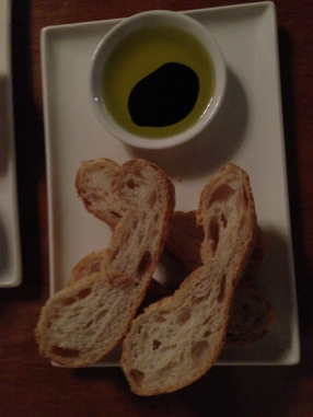 Bread with balsamic evoo